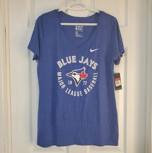 Womens blue Jay's v-neck t-shirt